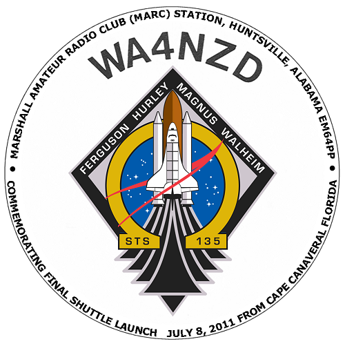 WA4NZD Mission Patch for STS135